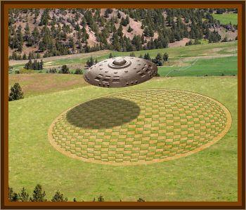 UFO Created Crop Circle