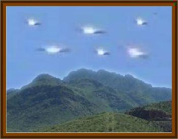 Small Fleet Of UFOs