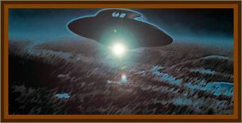 Mine Workers Watch UFO