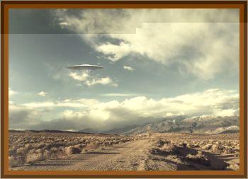 UFO Observed Over Desert
