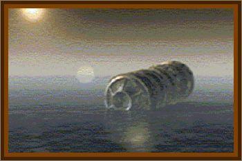Gigantic Cigar UFO Over The Atlantic