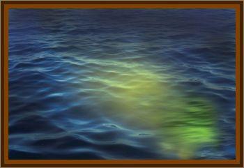 Submerged Light Under Aircraft Carrier